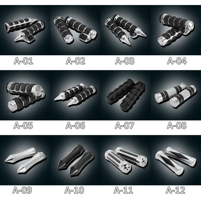 """1"""" Inch 25mm Handlebar Hand Grips For Honda Suzuki Kawasaki Yamaha Harley Road King Street Electra Glide XL 1200 883 Touring"""