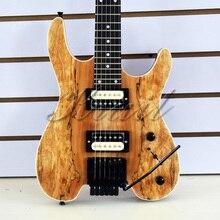 Безголовая гитара, 6 струн, безголовая электрогитара steinberg, гитара из красного дерева, Кленовая шея