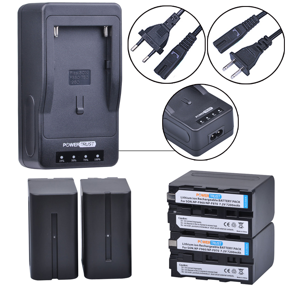4x 7200mAh NP-F970 NP-F960 NP F970 F960 Camera Battery + LED Rapid Charger For Sony CCD-TR200 TR215 SC5 DCR-TR7000 TR8000 TV900 диля 978 5 88503 960 4
