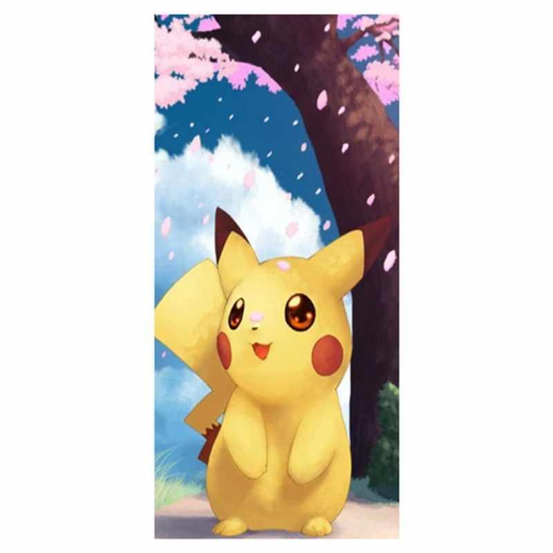 Envío Gratis! Anime Pokemon Pikachu fondo de bambú suave impreso fibra deporte y toallas de baño para adultos tamaño: 35CMX70CM