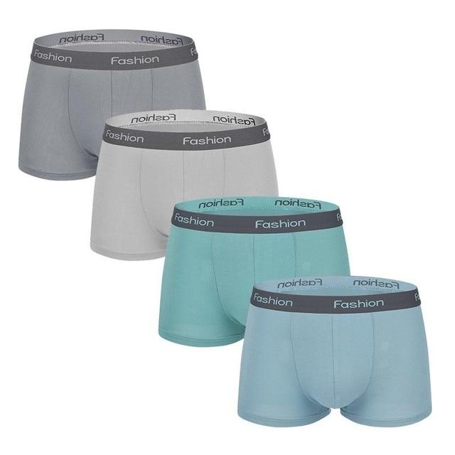 0df9862314b1 4 unids/set ropa interior para hombre bóxer Modal suave U bolsa  Calzoncillos Bóxer pantalones cortos masculinos Cuecas sólidas de alta  calidad