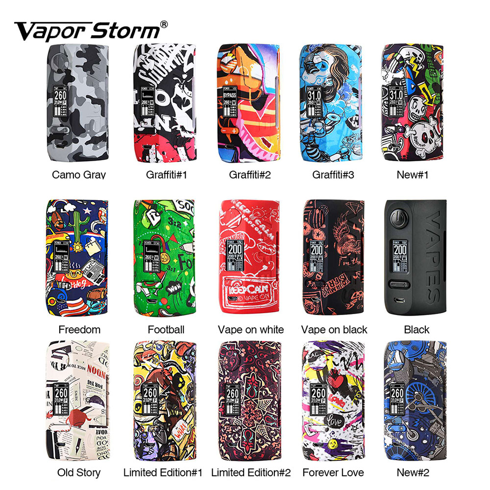 200W Vapor Storm Storm230 Puma TC Box MOD Fall-proof & Scratch-proof Max 200W No 18650 Battery Box Mod Vs Thor Box Mod Ecig original vapor storm storm 230 bypass 200w vw tc box mod puma mod vapes dual 18650 battery electronic cigarette vs wye 200w