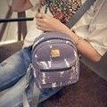 Mini Mochila Mujeres PU Del Cocodrilo Del Cuero de las mujeres Mochila Escolar mochila Pequeñas Mochilas Para Chicas Adolescentes 48ZS