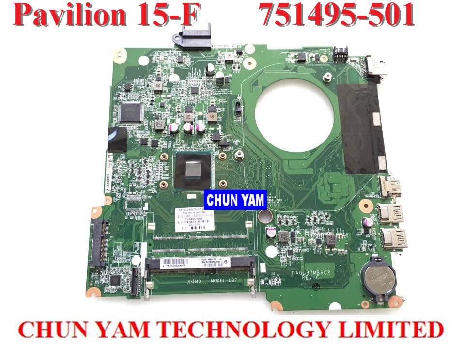 NEW ORIGINAL LAPTOP NOTEBOOK MOTHERBOARD SYSTEM BOARD 751495-501 FOR HP PAVILION TOUCHSMART 15 15-F INTEL W/ N2830 CPU SERIES original 746447 501 laptop motherboard for hp envy 15t j series notebook pc sytem board 100% working