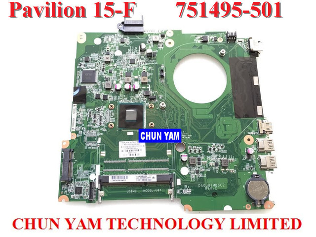 Novo e original notebook laptop motherboard placa de sistema 751495-501 para hp pavilion touchsmart 15 15-f intel w/n2830 série cpu