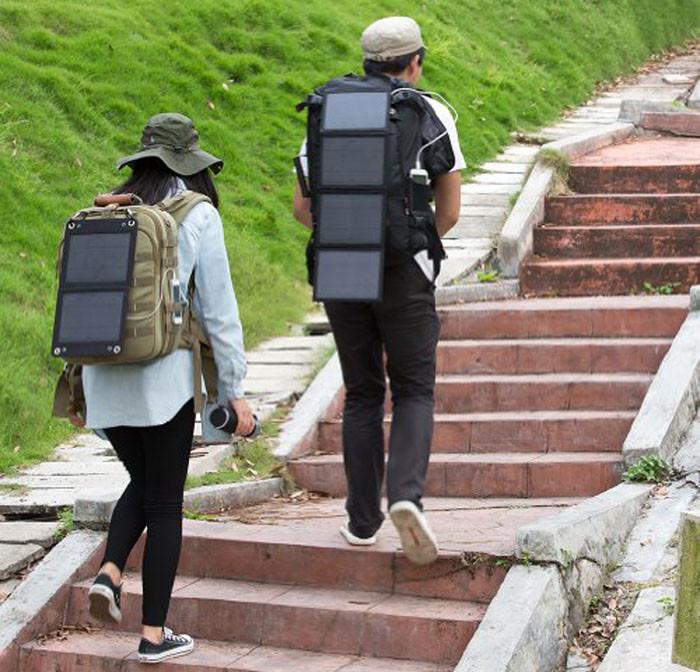 Hiking solar panel