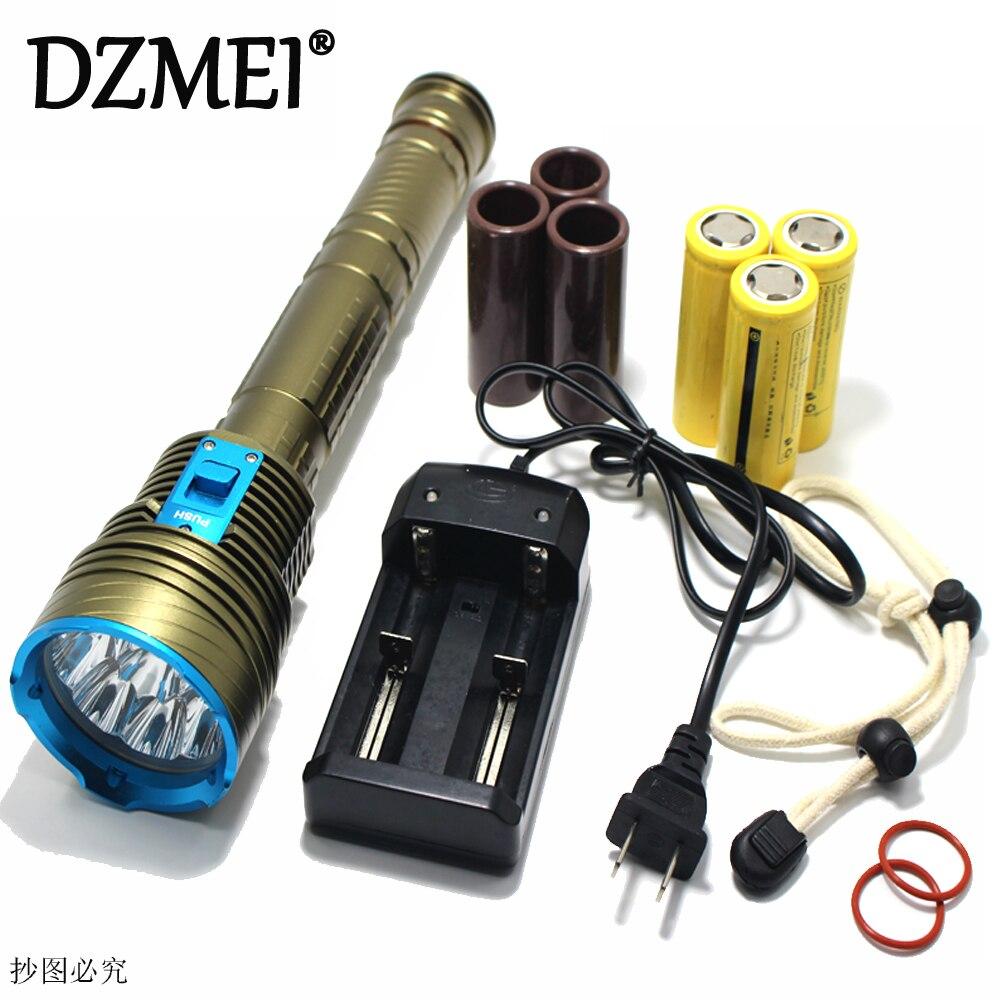 30000 Lumen XML 9x L2 LED Underwater 3 mode Waterproof LED Diving Flashlight Flash Light Lamp Lantern+3*18650 battery/Charger 3 3 300 30000