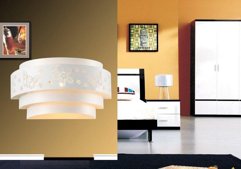 Moda moderna del fiore di farfalla e27 applique da parete lampade da