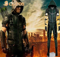 Express Anime Cosplay Costume Green Arrow Season 4 Oliver Queen Halloween Christmas Party Superhero Leather Uniform