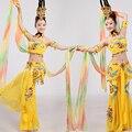 2016 Общество С Ограниченной Новый Женский Акриловые Disfraces Китайский Народный Танец Костюмы Таиланд Костюм Национальный Дуньхуан