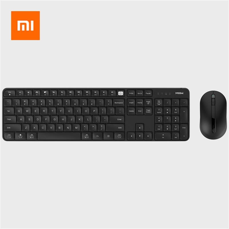 Xiaomi MIIIW ensemble de souris clavier sans fil 104 touches pleine taille 2.4 GHz IPX4 clavier étanche pour Windows 7/8/10 système Mac