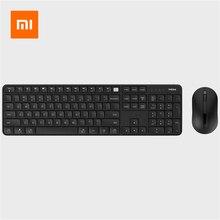 Xiaomi miiiw ワイヤレスキーボードマウスセット 104 キーフルサイズ 2.4 2.4ghz IPX4 防水ウィンドウズ 7/8/10 mac システム
