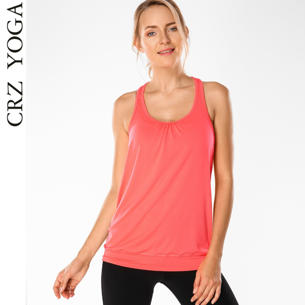 aa5edd620c699 Detail Feedback Questions about CRZ YOGA Women s Workout Fitness Sports  Sleeveless Racer Back Running Yoga Tank Tops on Aliexpress.com