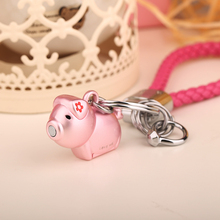 3D Kiss Pig Couple Keychain For Lovers Gift
