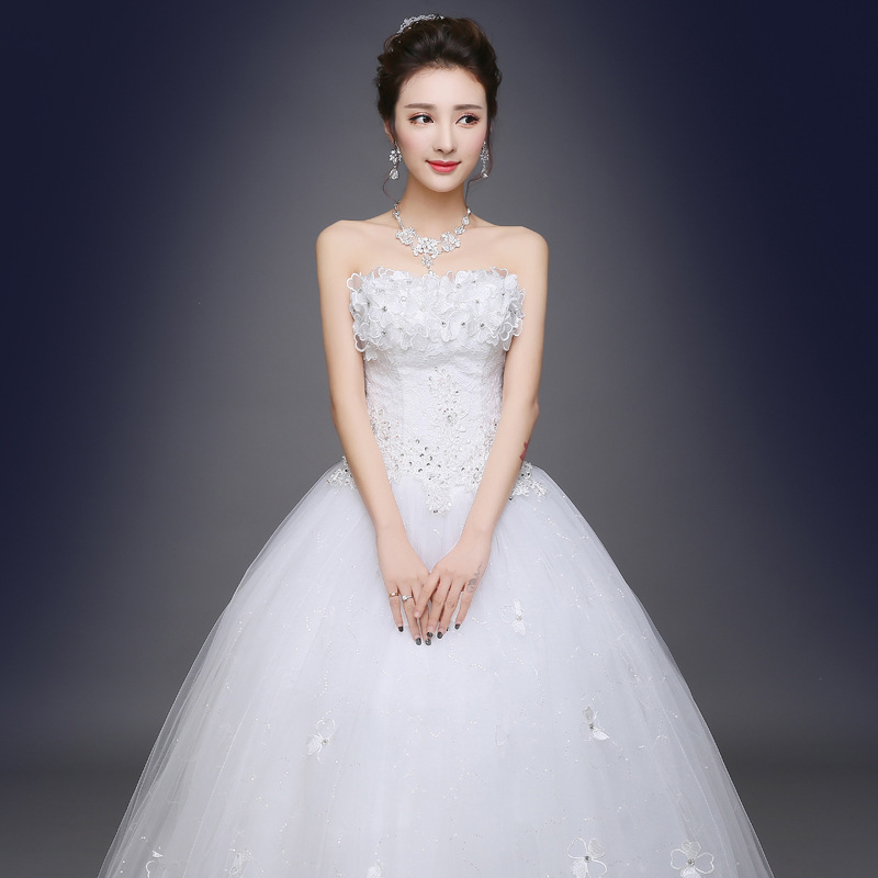 Wedding Dress 2019 Fashion Simple Bride Married Quinceanera Wed Robe Silk Dress Off Shoulder Sequin Ball Gown Dress Wed Dress
