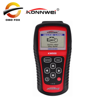 KONNWEI KW808 OBD2 ماسحة سيارة KW 808 تشخيص قانون القارئ يمكن محرك إعادة أداة ms509 السيارات ماسحة تغطية شحن مجاني