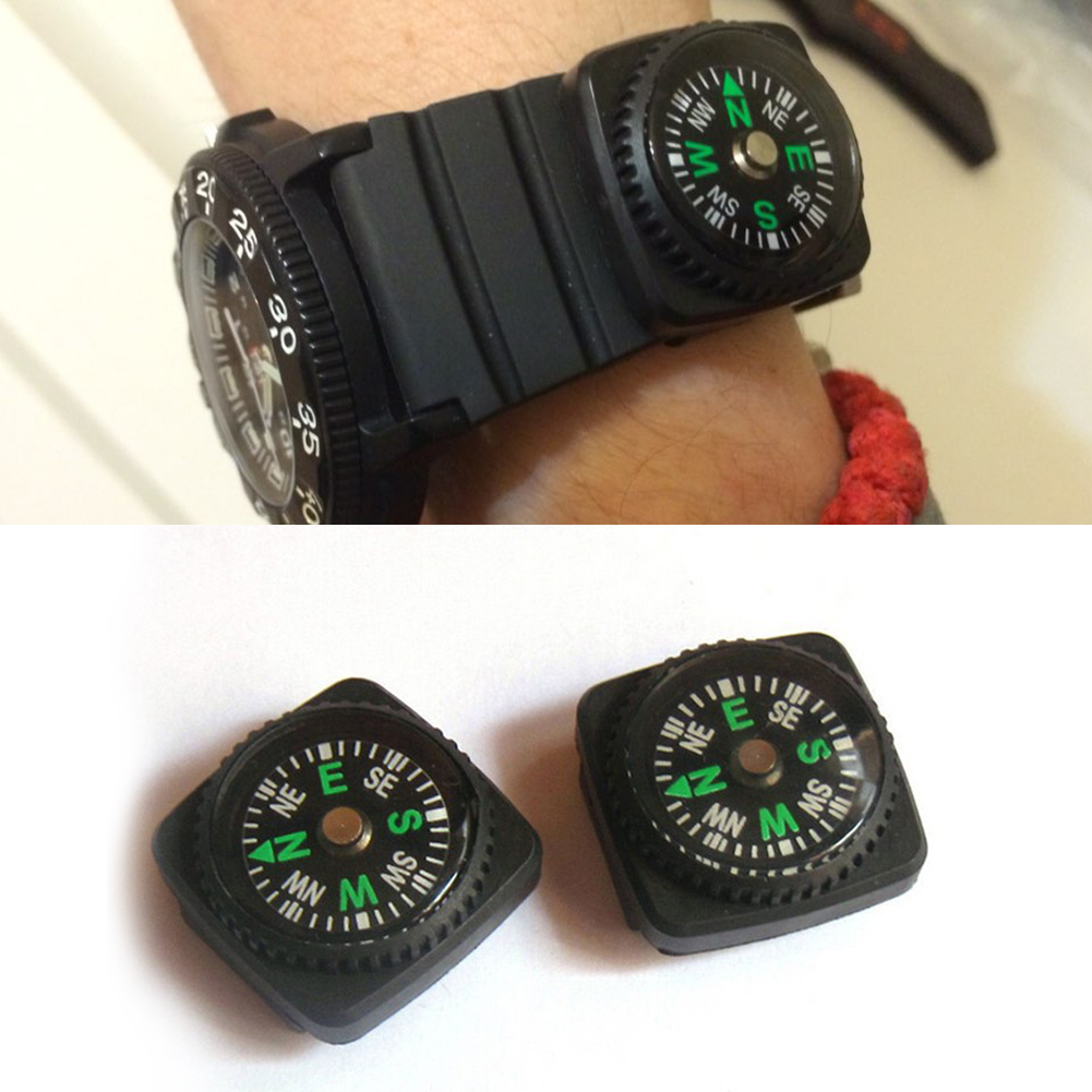 Wholesale Lot 12 pcs 20 mm Small Mini Compas 4 kit de survie