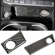 Панель прикуривателя из углеродного волокна+ кнопка запуска двигателя для Audi A4