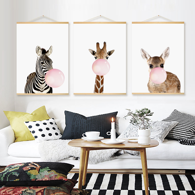 Decor, Wall, Painting, Bubble, For, Zebra
