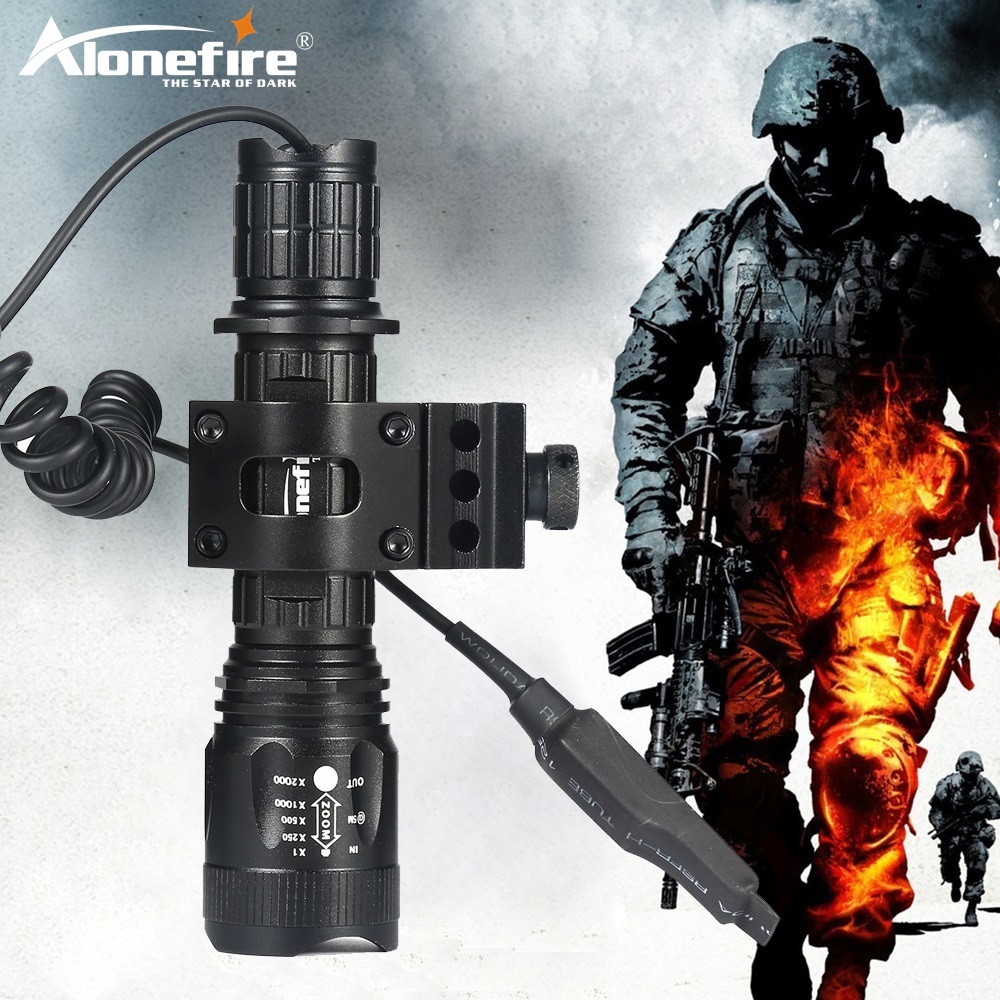 AloneFire TK400 Aluminum 5Mode XML L2 LED Tactical Flashlight Flash Lamp Torch Light Lantern with Pressure Switch Controller