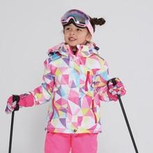Jacket Children Waterproof Windproof Clothing Kids Ski Pants Boys Girls -30 DEGREE Winter Warm Snowboarding Outdoor Ski Suit стоимость