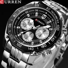 Fashion Curren Luxury Brand Man quartz full stainless steel Watch Casual Militar