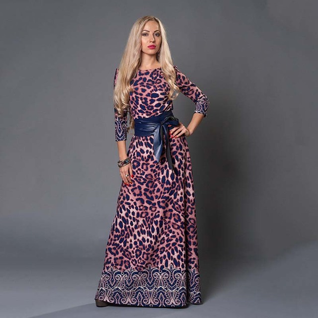 S.FLAVOR Brand Women long Dress hot sale 2017 Spring Summer Russian Style Print Dresses Long Floor-Length  Elegant vestidos