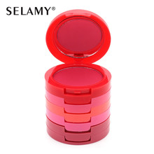 SELAMY Sleek Makeup 5 Color Blusher Palette Beauty Red Bright Powder Blush Maquiagem Baked Mineral Colorete Bronzer Cosmetic Set