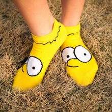 2019 Leisure Cartoon Straight Short Sock Men Women Anime Shallow Mouth Thin Short Sock Breathable Hosiery(China)