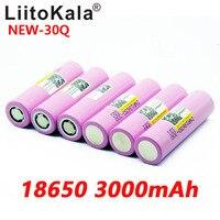 Image 4 - 8PCS חדש LiitoKala 100% מקורי INR 18650 סוללה 3.7V 3000mAh INR18650 30Q ליתיום נטענת סוללות