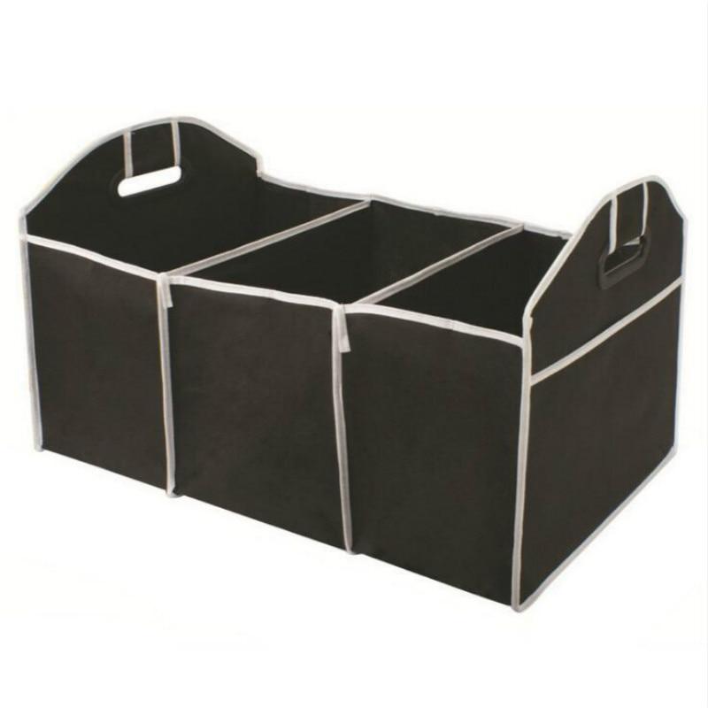 Автомобильный многокарманный органайзер для багажника, Большая вместительная складная сумка для хранения, органайзер для багажника, автомобильные аксессуары - Название цвета: Черный