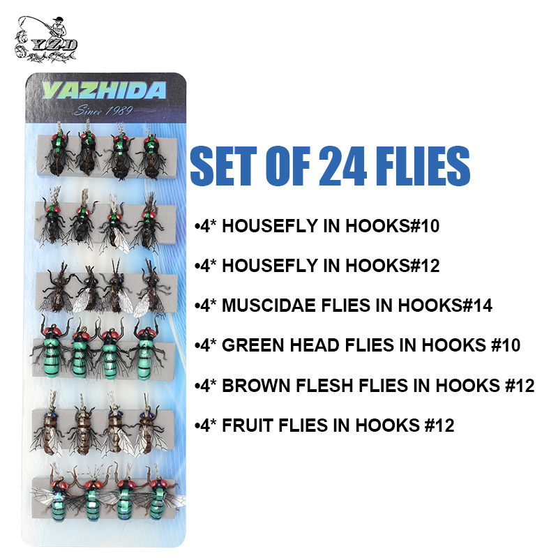 Image 5 - Fly Fishing Flies set 12pcs Mosquito Housefly Realistic Insect Lure for Trout Lure kit flyfishing-in Fishing Lures from Sports & Entertainment