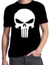 3e40716c0 The Punisher Inspired Classic Skull Logo Comic Book Action Movie New T-Shirt  100% Cotton T Shirts Brand Clothing Tops Tees