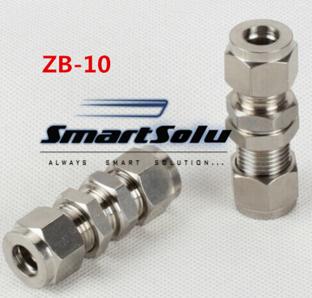 Free shipping Passthrough Stainless Steel Connector Fitting, ZB-10 Thread, Homebrew Fitting,Straight terminal fittings free shipping of 1pc hss 6542 full cnc grinded machine straight flute thin pitch tap m37 for processing steel aluminum workpiece