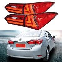 Стайлинга автомобилей хвост лампа для Toyota Corolla 2014 2015 задние фонари светодиодный сигнал светодиодный DRL День Бег остановить задние лампы авт