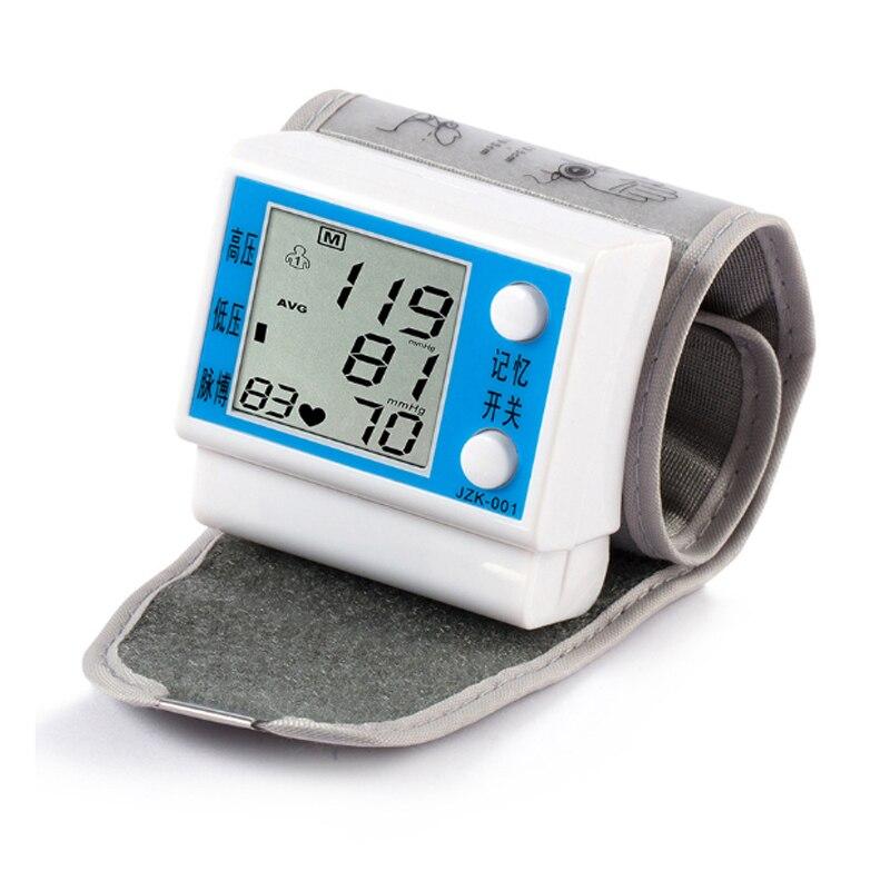 Electric Wrist Blood Pressure Monitor Portable tonometer health care bp Digital meters sphygmomanometer