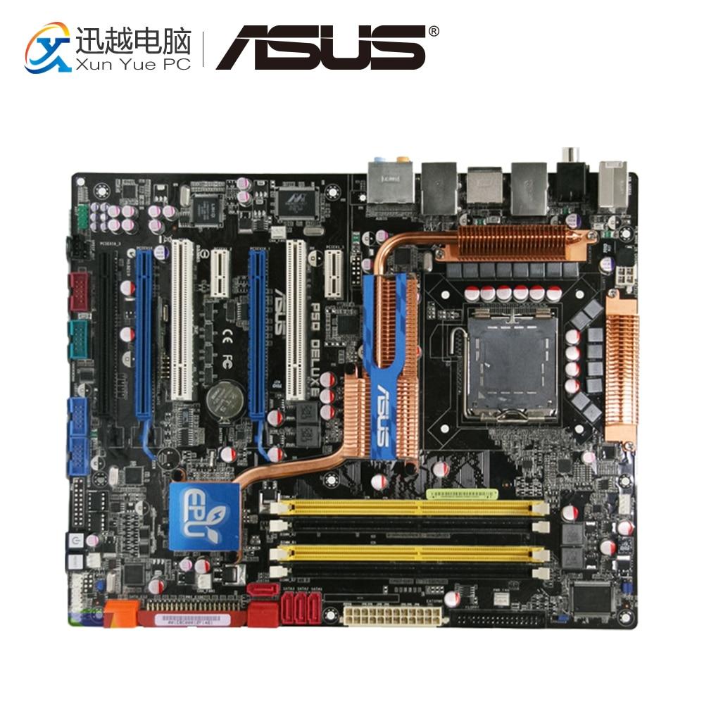 Asus P5Q Deluxe Desktop Motherboard P45 Socket LGA 775 DDR2 16G SATA2 USB2.0 ATX цена 2017