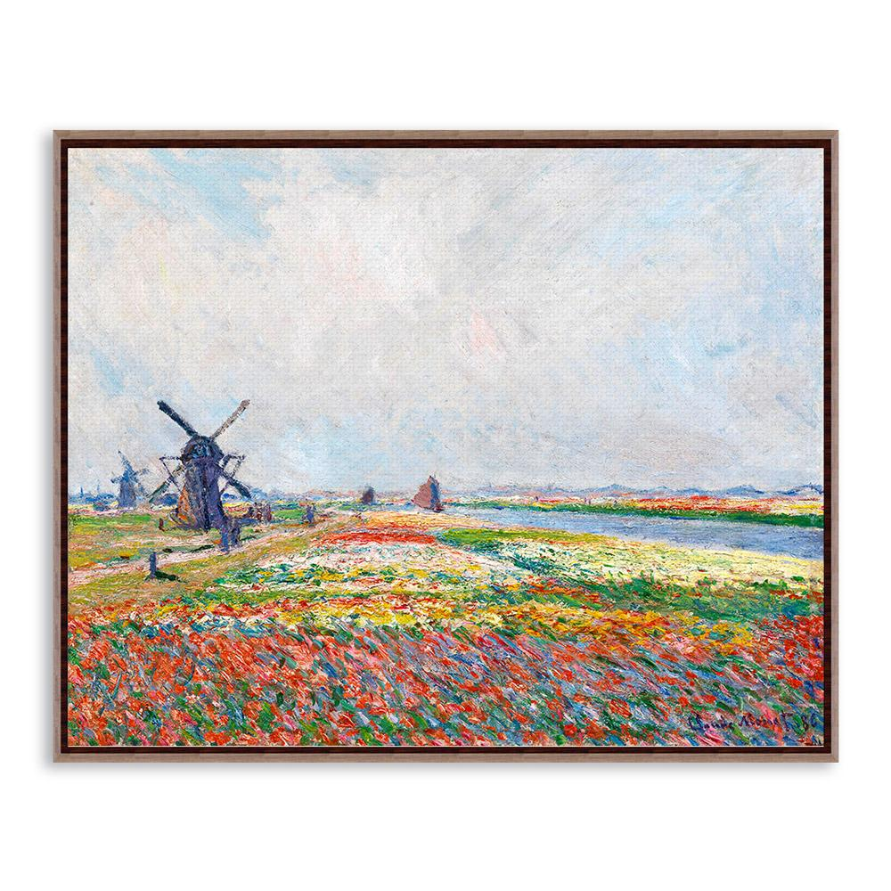 Claude monet impressionist rural landscape a4 poster prints colorful flowers windmill canvas oil paintings home wall art gifts in painting calligraphy
