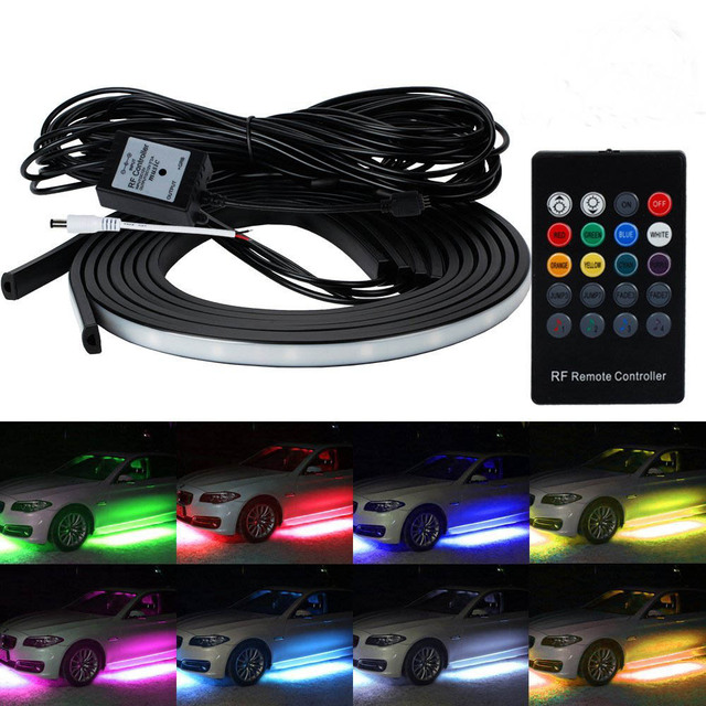 YSY 4x Waterproof RGB SMD Flexible LED Strip Under Car Tube Underglow Underbody System Neon Light  sc 1 st  AliExpress.com : undercar lighting - www.canuckmediamonitor.org