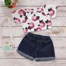 2PCS Kids Baby Girls Clothes Letter T-shirt Tops + Pants Shorts Summer Outfits Set kids baby girls clothes t shirt tops vest short pants shorts children 2pcs outfits summer clothes set