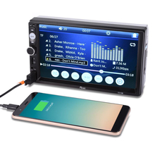 7-inch 2din Dual-ingot Car Plug-in Machine MP4 Player Car Player Mp5 Touch Screen Radio Bluetooth Stereo Support Bluetooth Call стоимость