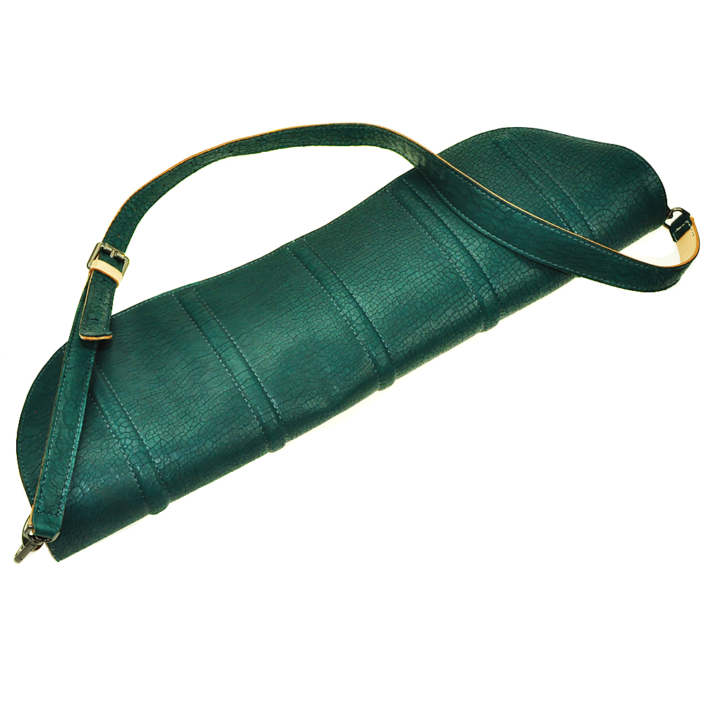 A-Pocket Pea Long Handbag Genuine Vegetable Tanned Cow Leather Crossbody Bag back vent flap pocket pea coat