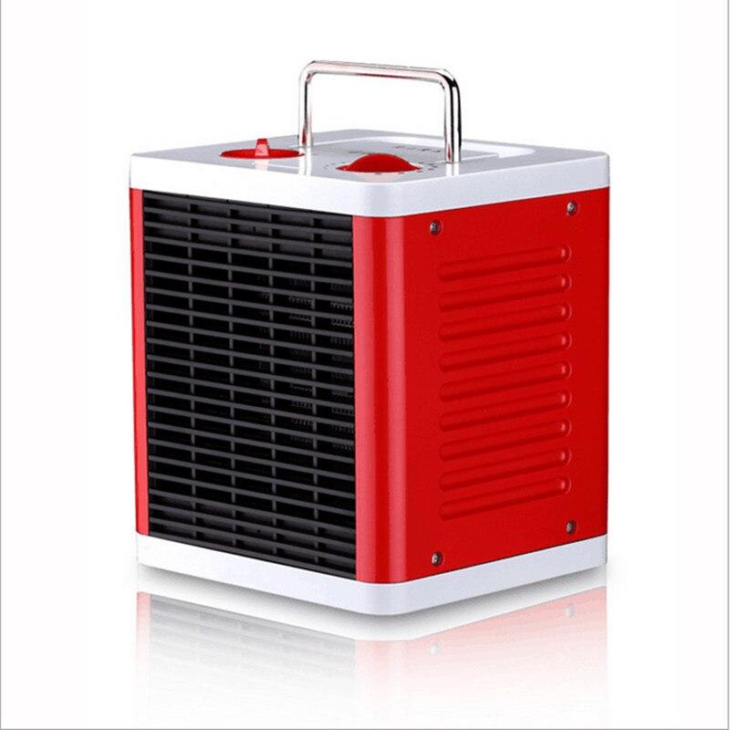 220V Mini Portable Mute 3 Gear Electric Fan Heater Electric Air Blower 3S Fast Heating PTC Cube Shape Electric Warmer