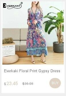 Dropwow Everkaki Women Maxi Dress Paisley Floral Print Loose Long ... 01c9f355ce8b