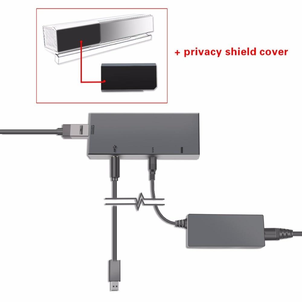 Dealonow para XBOX One Kinect adaptador XBOX One S X Sensor 2,0 fuente de alimentación AC