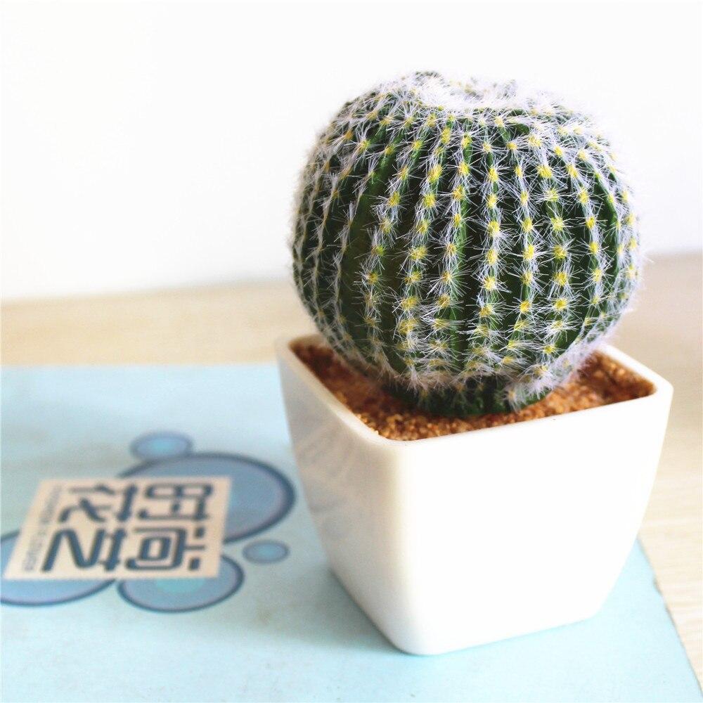 Artificial Succulent Cactus Ball Bonsai Fake Plant Flower Home Floral Desk Decor