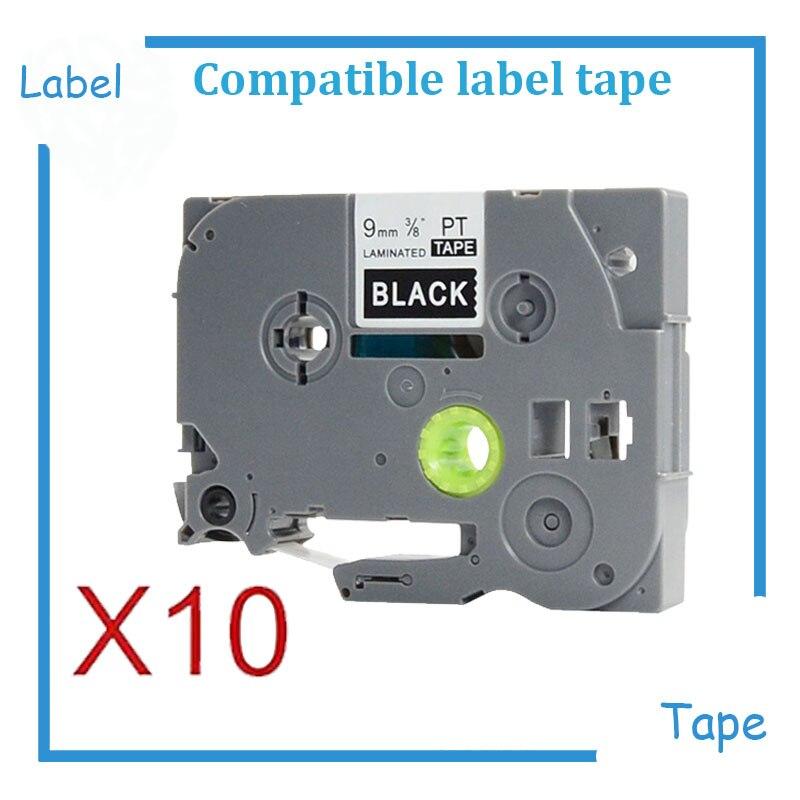 10PK TZe Laminated Label Tape TZe325 TZe 325 TZ325 TZ 325 white on black tz tapes