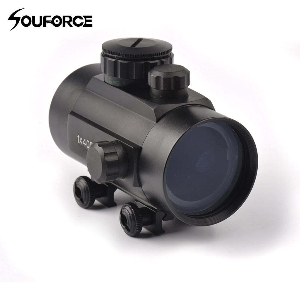 Tactical 1x40 Optical Scope Holographic Red And Green Multi-Dot Sight Rifle Scope Fit 20 Mm Rail Mount For Hunting
