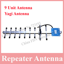 824-960 MHz 13dBi Yagi Outdoor Antenna with 9 Unit Directional Antenna for Mobile Phone Repeater Amplifier, Booster Yagi Antenna