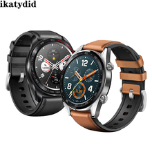 22mm strap for samsung Gear S3 Frontier galaxy watch 46mm SM-R800 huawei watch gt huami amazfit band Genuine Leather belt watch band for 22mm samsung gear s3 real leather with silicone watch strap for huawei watch 2pro wrist belt for huami amazfit 1